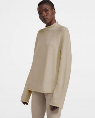 Beige Roll Neck Sweater