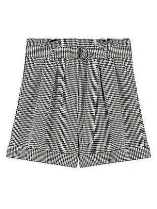 Imy Paperbag Houndstooth Shorts