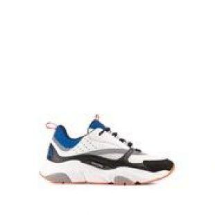 """Sneaker """"B22"""" maille technique bleue et veau noir, gris et blanc - Souliers - Mode Homme   DIOR"""