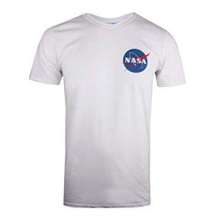 Nasa Core Logo T-Shirt, Blanc White, Small Homme
