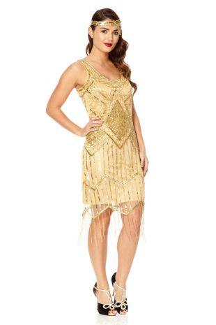 UK14 US10 AUS14 Isobel or Vintage inspiré des années 20 douche Flapper Great Gatsby perlé Charleston Art déco demoiselle d'honneur mariée robe de mariée nouveau
