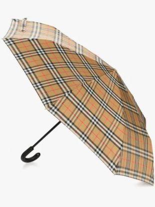 Burberry Parapluie à Carreaux Vintage