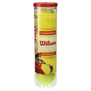 Balles de Tennis Wilson, Champ Extra Duty, Boîte de 4, pour tous les Revêtements, Jaune, WRT110000