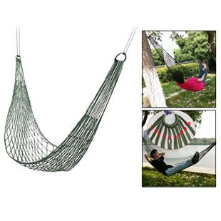Itian Travel Camping Hamac - Coin confortable Nylon Mesh Rope Hamac Sleeping Hanging Bed