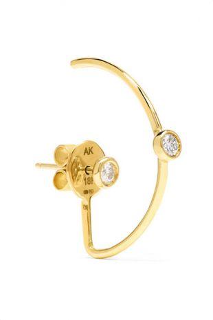 Gold Diamond Earring