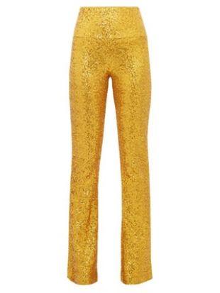 Pantalon taille haute évasé à sequins   Norma Kamali   MATCHESFASHION FR