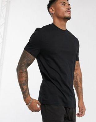 ASOS DESIGN - T-shirt ras de cou en tissu bio - Noir | ASOS