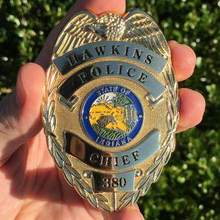 Stranger Things Hopper Replica Badge