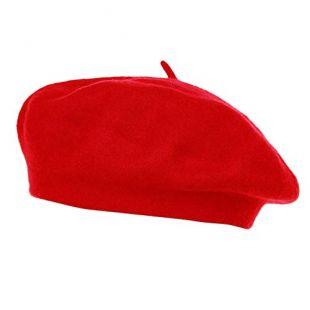 Colorfulmall - Béret - Femme Taille Unique - Rouge - Taille Unique