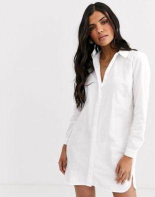 ASOS DESIGN - Robe chemise courte en coton | ASOS