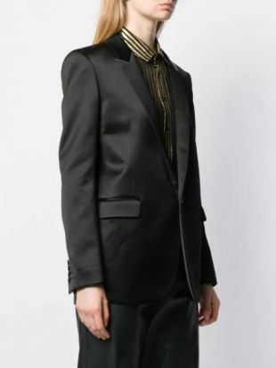 Saint Laurent Blazer à Col à Revers En Satin - Farfetch