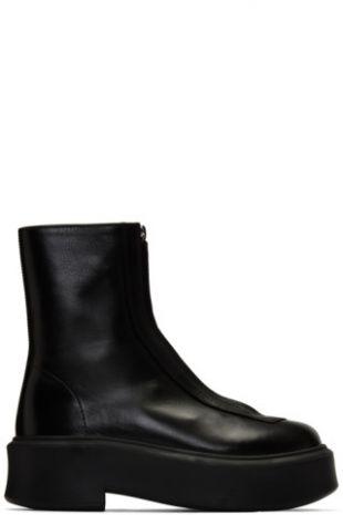 Black Zipped Boots