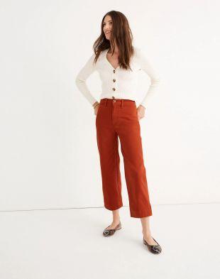 Russet Wide-Leg Crop Pants