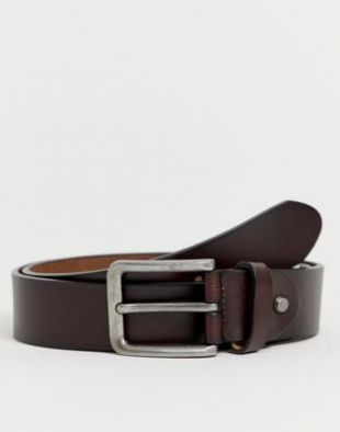 Only & Sons - Ceinture en cuir - Marron | ASOS