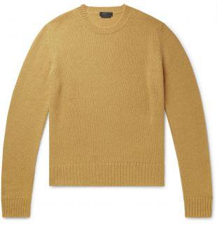 Yellow Shetland Wool Sweater | Prada | MR PORTER