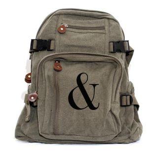Sac à dos, Sac à dos en toile, petit sac à dos, sac à dos d'école, femmes de sac à dos, sac à dos d'université, sac à dos personnalisé de sac à bébé, Ampersand