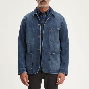 Premium Engineer's Coat 2.0 in Denim Stone