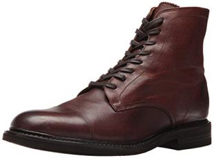 Frye Men's Seth Cap Toe Lace Up Fashion Boot, Brown, 7 M US