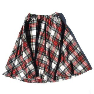 XS/S tartan à carreaux taille élastique cercle patineuse style Jupe avec couteau plis une indie preppy vintage ligne court mini école fille rouge à carreaux des années 80