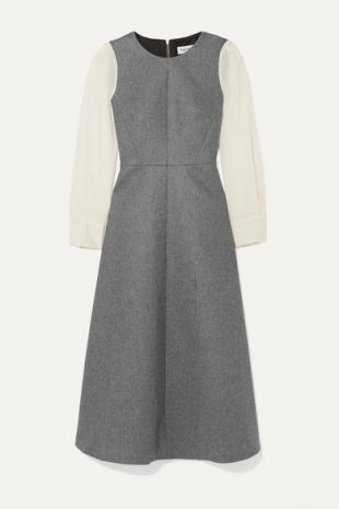 Grey Two-tone Dress