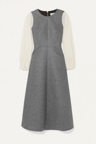 Grey Two-tone Dress