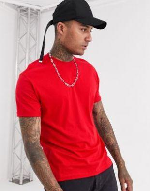 Bershka - Join Life - T-shirt classique en coton  bio - Rouge | ASOS
