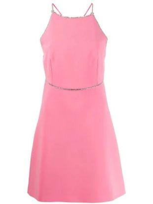 Crystal Trim Mini Dress