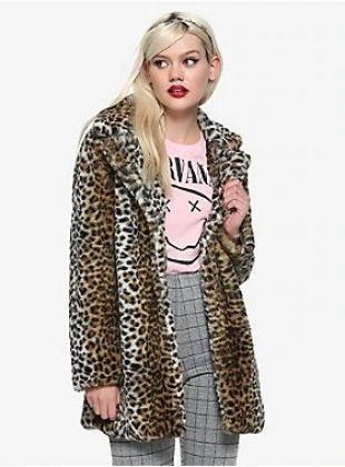 Leopard Print Faux Fur Girls Jacket
