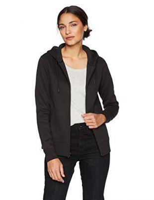 Women's Water-Repellent Thermal-Lined Full-Zip Hoodie, Black, Medium
