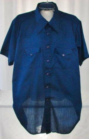 Chemise multi-couleur Pearl Snap Shirt Marine Blue Unworn X-Large