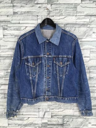 vintage 1950's LEVIS BIG E Jeans Veste Medium vintage Levis Usa 60's Single Stitch 501 Trucker Denim Jacket