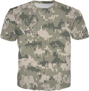 'MERICA Digital Pixel Camouflage T-Shirt