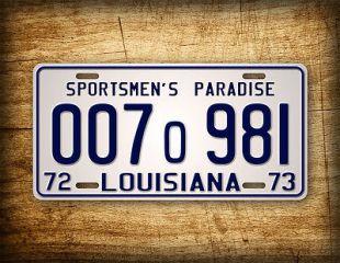 JAWS Movie Louisiana License Plate 1975 Shark Autopsy Replica Prop Auto Tag 1973  | eBay