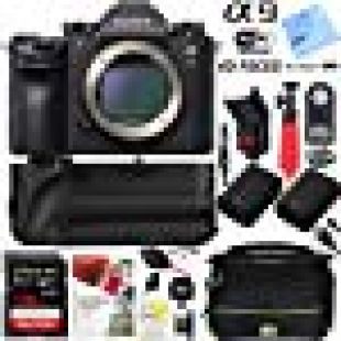 Sony Alpha a9 Mirrorless Interchangeable Lens Digital Camera Body Bundle with 128GB Memory Card, Battery Grip, Battery, Camera Bag, Paintshop Pro 2018 and Accessories (9 Items)