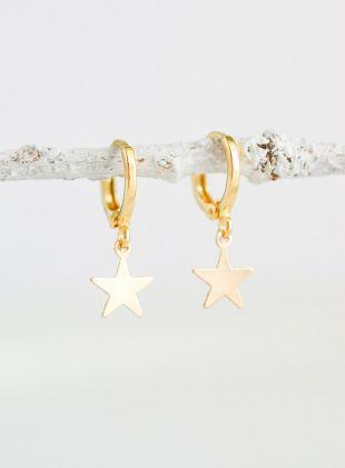 boucles d'oreilles-boucle d'oreille minuscule étoile créoles
