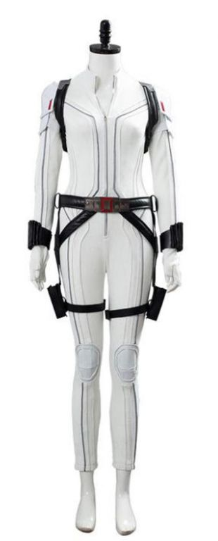 Costume de Cosplay blanc de combinaison de film de veuve noire