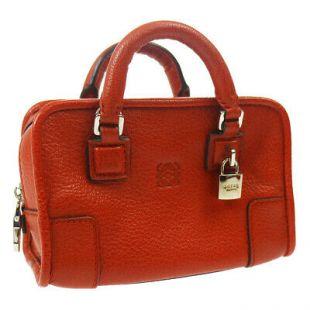 MICRO MINI AMAZONA 2way Mini Hand Bag Charm Red brown Leather JT09162