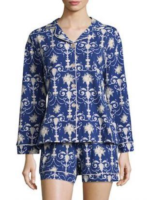 pyjashort bleu