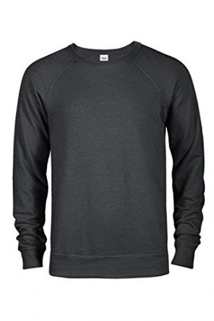Casual Garb Men's Crew Neck Sweatshirts French Terry Crewneck Sweatshirt for Men Charcoal Heather X-Small