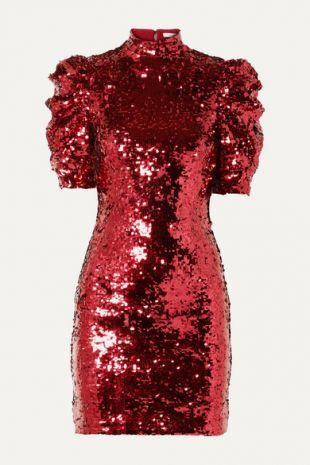 Red Sequin Mini Dress