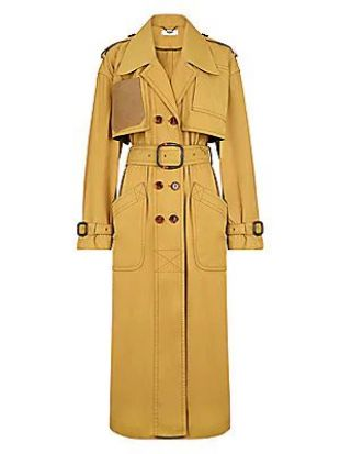Belted Nylon Trench Coat