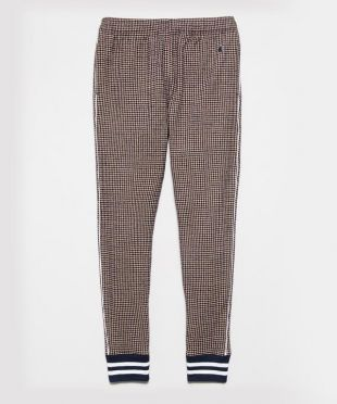 Italian Wool Houndstooth Sweatpant