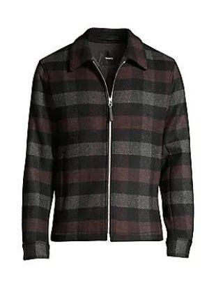 Wyatt Mosaic Plaid Zip Jacket