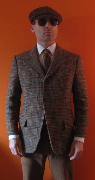 Custom veste Harris Tweed sz 40 S