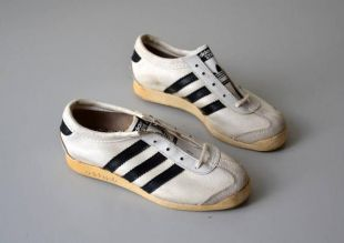 Paire de tennis ADIDAS GYM made in France / sneakers vintage / années 80 / chaussures enfant / pointure 31