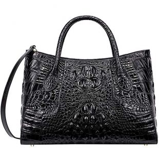 PIJUSHI Women Handbags Crocodile Top Handle Bag Designer Satchel Bags For Women (5002A, Black)
