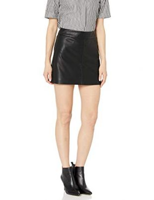 [BLANKNYC] Women's Vegan Leather Mini Skirt Skirt, Deja Boot, 28