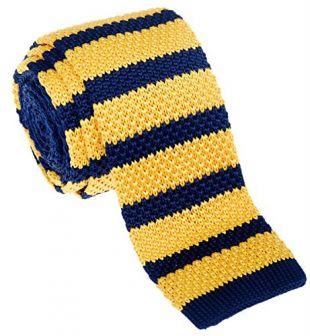 Retreez vintage Smart décontracté pour homme 5,1cm Skinny Knit Cravate–Beaucoup de Couleurs - Jaune - Taille Unique