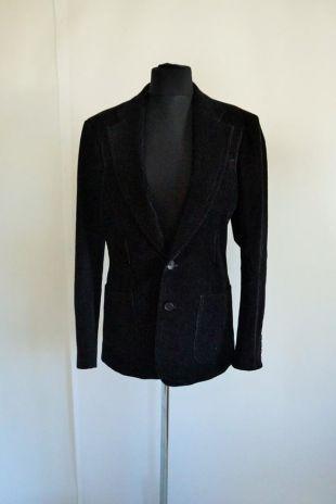 vintage Mens Velvet Blazer / Manteau / Veste / Black / Smoking jacket / Suit / 50 LArge / L / Soirée / Retro / Outwear / Casual / Black