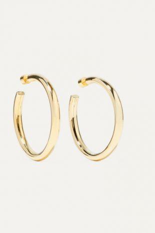Samira Gold Plated Hoop Earrings